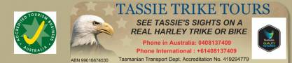 Tassie Trike Tours Tourist Attractions Information Or Services New Town Directory listings — The Free Tourist Attractions Information Or Services New Town Business Directory listings  Business logo